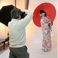 Photographing in studio