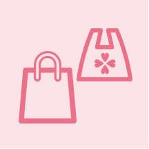 お土産などのお買い物袋