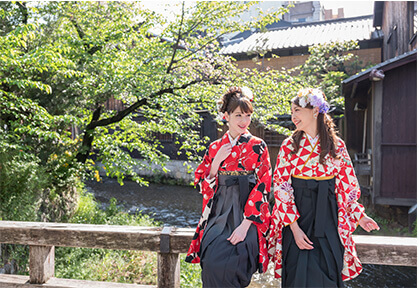 enjoy kyoto sights wearing hakama