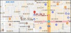 京あるき京都四条本店の地図