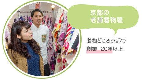 京都の老舗着物屋から着物を提供