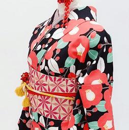 赤椿のクールなレンタル着物で京都観光