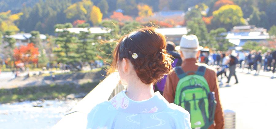 着物を着て京都観光