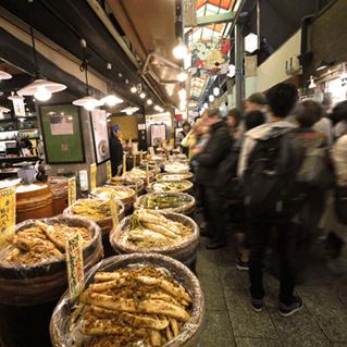 六角堂→錦市場
