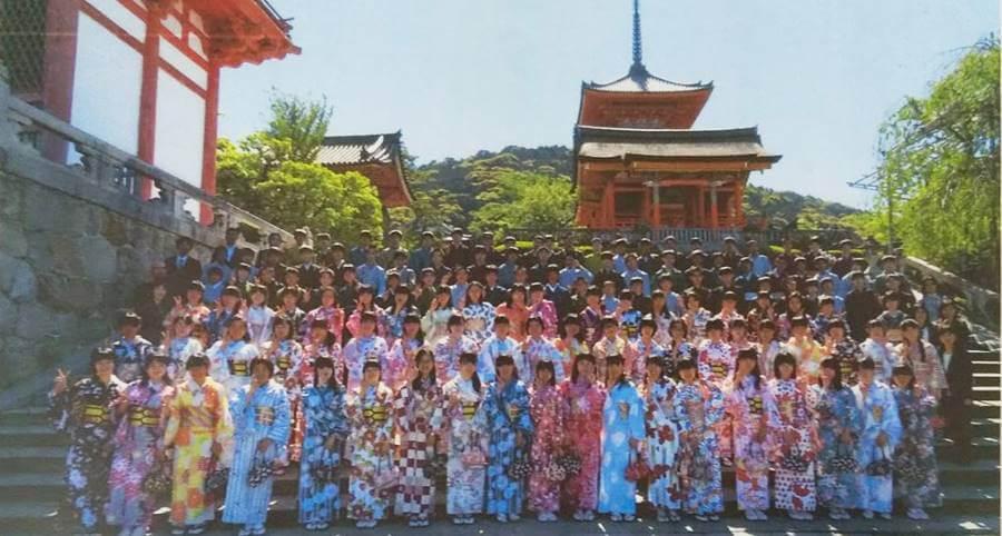 京あるきで着物レンタルを行った修学旅行の生徒の皆さま
