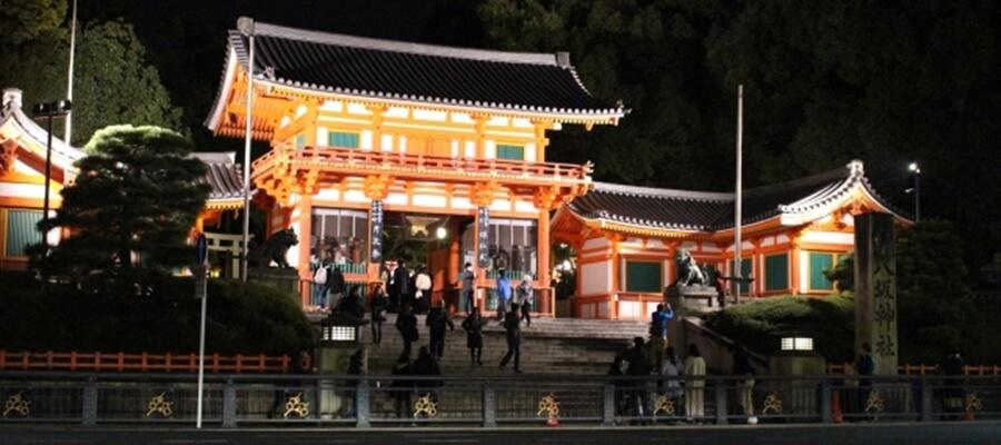 深夜の八坂神社