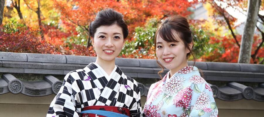 京都観光は着物姿で女子会!